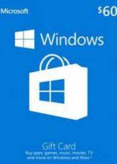 ۶۰$ Microsoft Gift Card