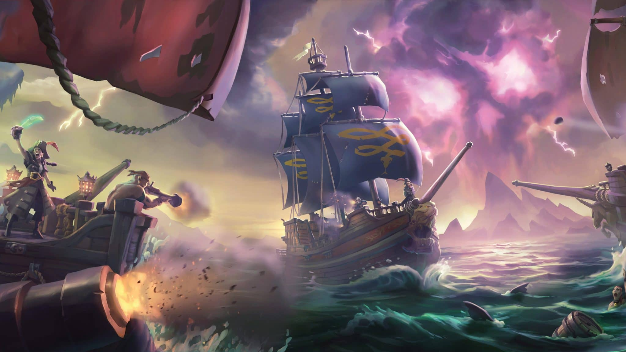 sea of thieves video game desktop wallpaper 62599 64572 hd wallpapers min - اشتراک آنلاین دائم   Sea of Thieves