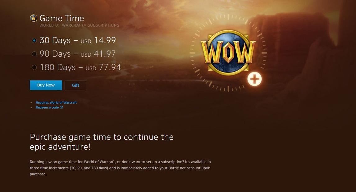 wowgametime - اورجینال World of Warcraft : Game Time