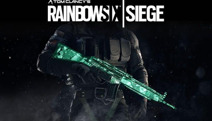 c855f9d58f9fadf0c1f5a4a82a3b63157093512f - آیتم و DLC استیم و یوپلی Rainbow Six Siege - Emerald Weapon Skin