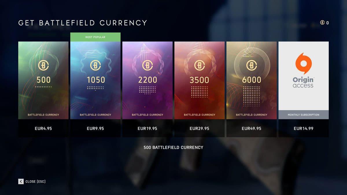 w3 3 - خرید کردیت Battlefield V: Battlefield Currency