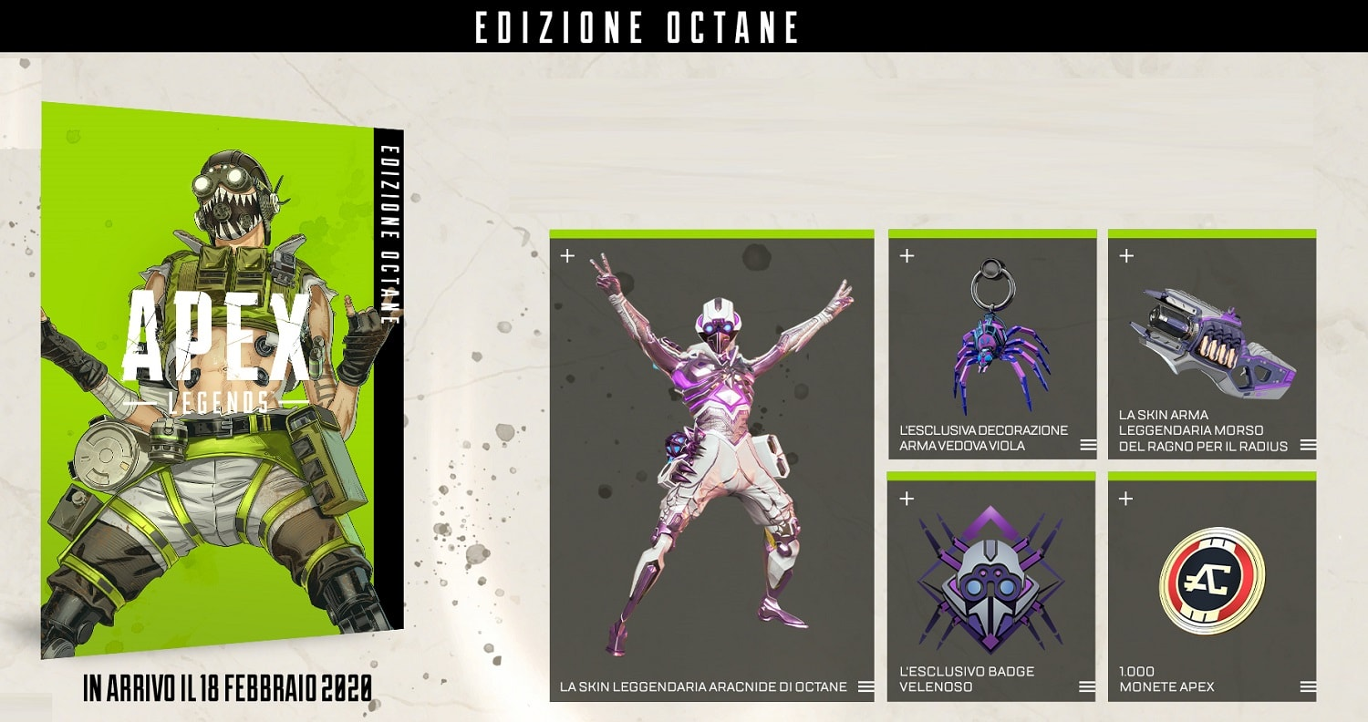 Apex BeautyShot Octane IT min - سی دی کی  Apex Legends - Octane Edition