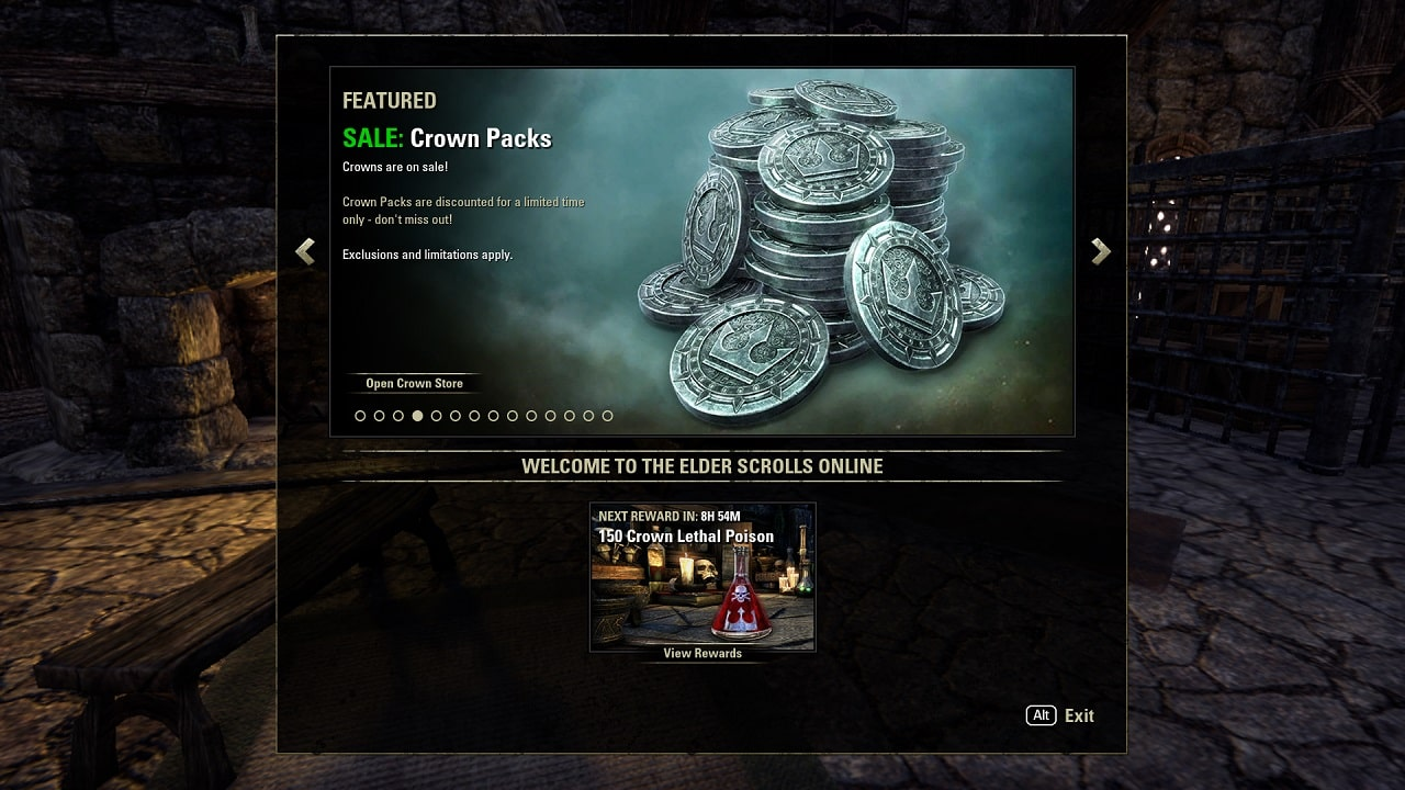 The Elder Scrolls Online Crown Packs 11 min - خرید کردیت The Elder Scrolls Online - Crown Packs