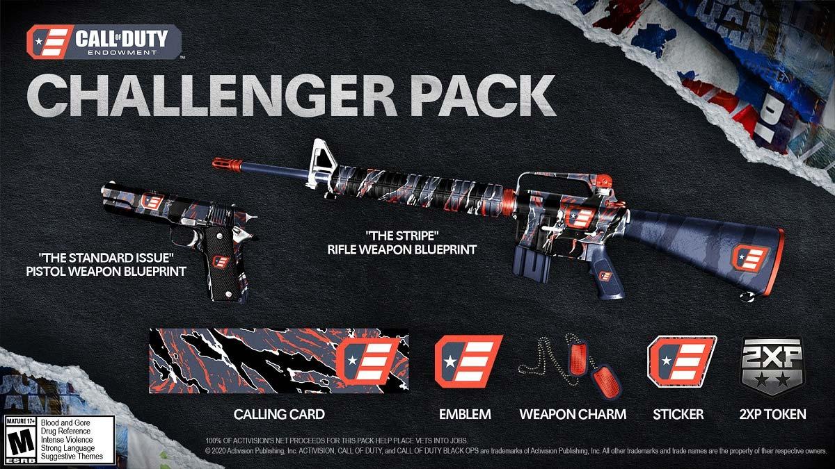 cod code pack w1 - سی دی کی اورجینال Call of Duty - Endowment Challenger Pack