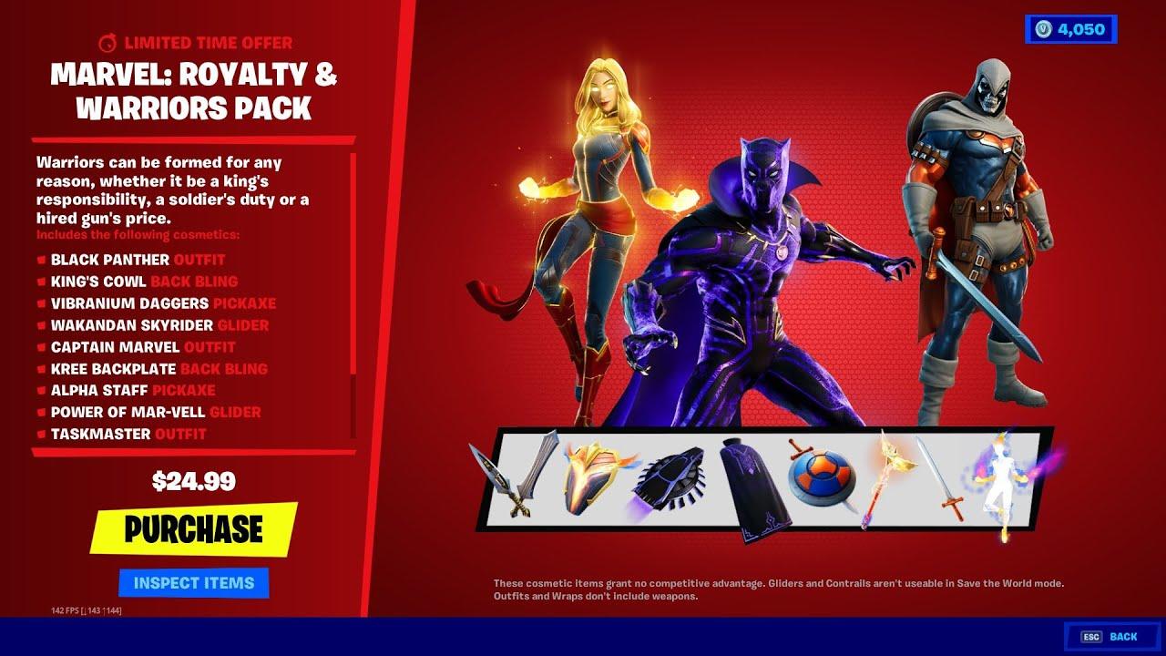 Fortnite Marvel Royalty w2 - سی دی کی اورجینال Fortnite - Marvel: Royalty & Warriors Pack