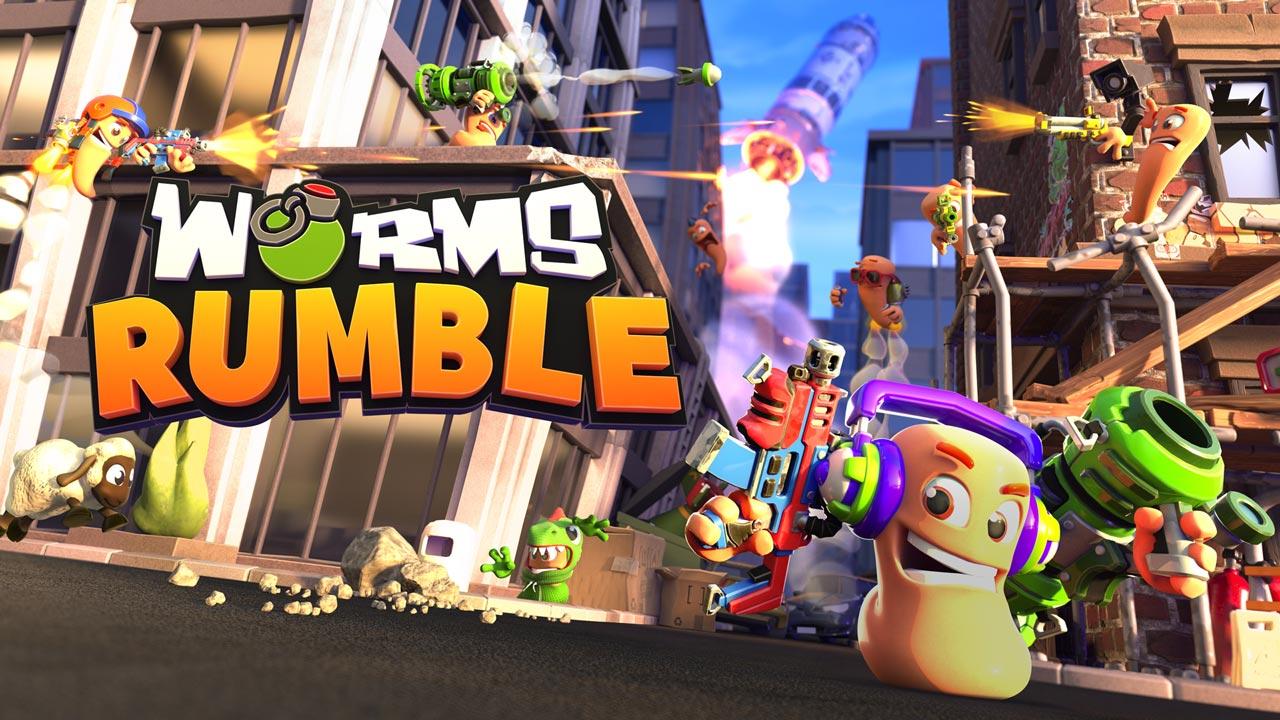 Worms Rumble w1 - سی دی کی اورجینال Worms Rumble