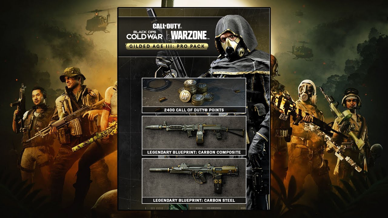 Black Ops Cold War Gilded Age g1 - سی دی کی اورجینال Black Ops Cold War - Gilded Age III: Pro Pack