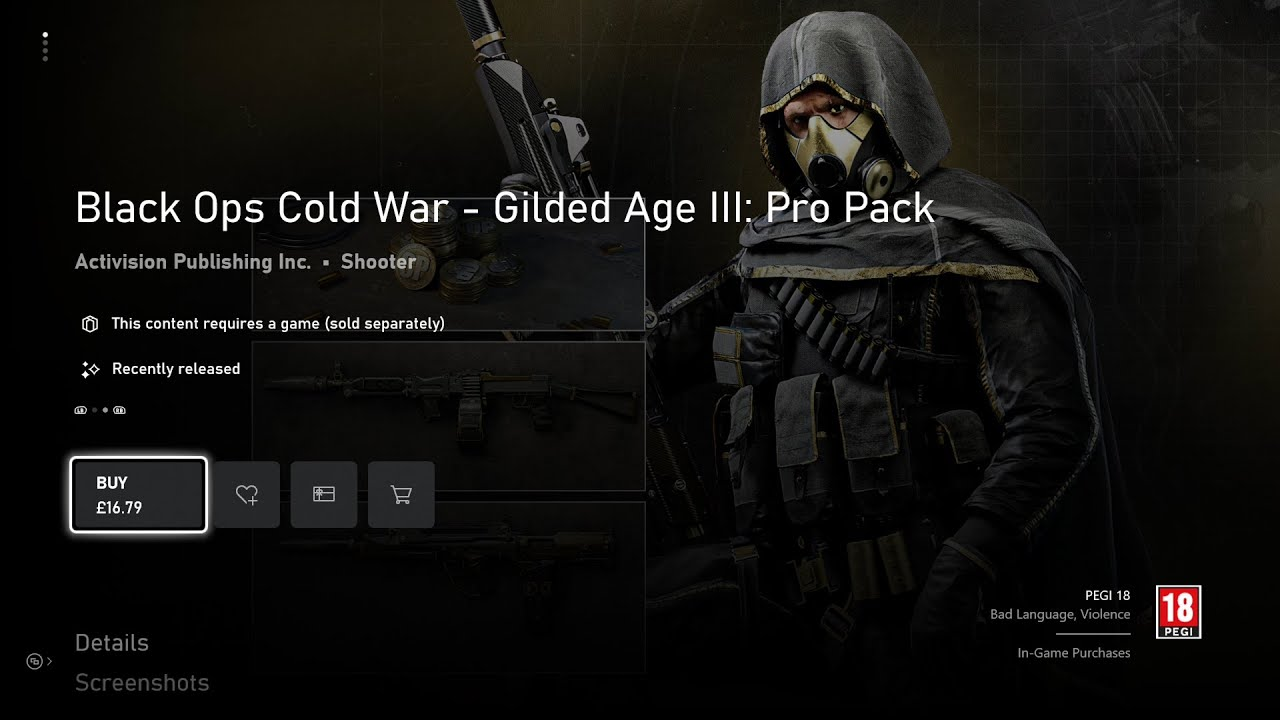 Black Ops Cold War Gilded Age g5 - سی دی کی اورجینال Black Ops Cold War - Gilded Age III: Pro Pack