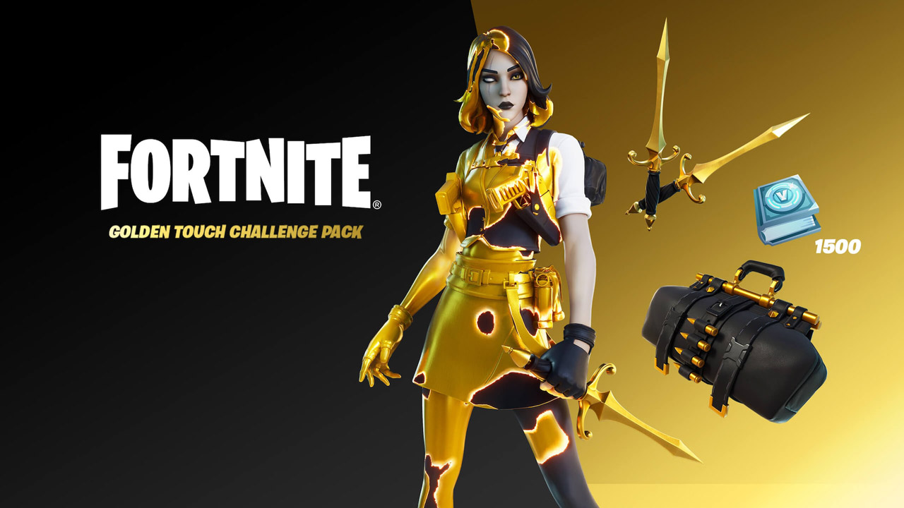 Fortnite Golden Touch Challenge g1 - سی دی کی اورجینال Fortnite - Golden Touch Challenge Pack
